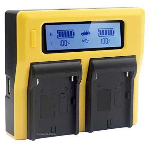 PATONA - Compatible con la batería Nikon EN-EL3e - Cargador Doble/Pantalla LCD/Salida USB