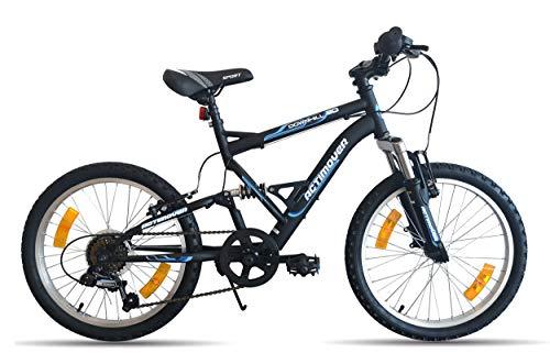 AcTIMOVER - Bicicleta de montaña de 20 pulgadas, con 6 velocidades por mango, Shimano TY21