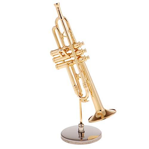 FLAMEER Miniatur Trompete Puppenhaus Zubehör für 1:6 Puppenstube Dekoration