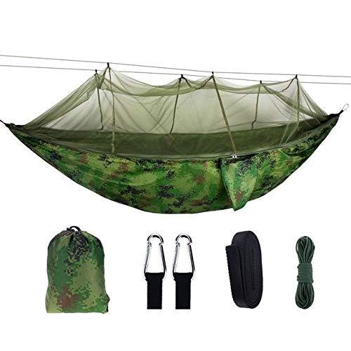 Griselda Max Swing Moustiquaire d'extérieur double en nylon 210 t anti-moustique pour air camping Tente suspendue Balançoire portable, camouflage