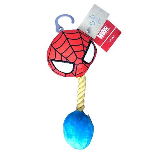 Jouet en corde avec sifflet pour chien Spiderman (Marvel)
