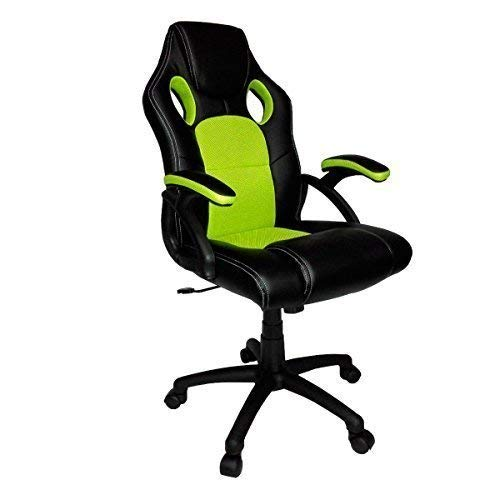 neotechs Kalk grün & schwarz Drehgelenk PU Leder Grillmatte Büro Rennen Gaming Stil Liegend Computer Schreibtisch Sessel