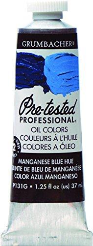 Grumbacher Pre-Tested Oil Paint, 37ml/1.25 oz., Manganese Blue (P131G)