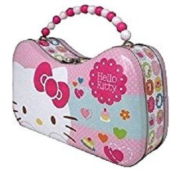 Hello Kitty Purse Tin Carry-All w/Beaded Handle