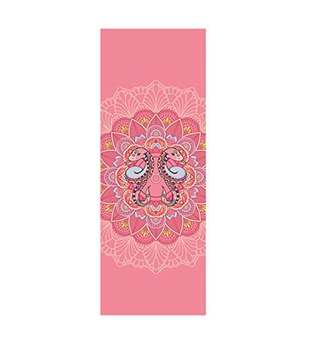 AGAGRG Esterilla de yoga con estampado de Gemini, antideslizante, de 6 mm de grosor, antideslizante, para hacer ejercicio, yoga, aeróbico, caliente