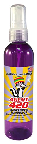 Agent 420-4 oz Smoke Odor Destroying Spray for Eliminating Smoke, Cigarette or Most Unwanted Odors in Your House, Car or Apartment, Freshen Up The Place