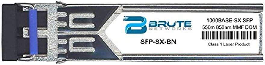 Brute Networks SFP-SX-BN - 1000BASE-SX 550m MMF 850nm SFP Transceiver (Compatible with OEM PN# SFP-SX)