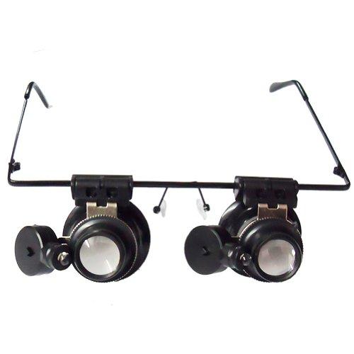 20X Lupe Lupen-Objektiv Juwelier-Uhr-Reparatur-LED-Licht.