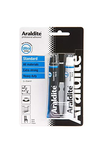 Araldite Heavy Duty Epoxy Adhesive | Ultra Strong 2-Part Epoxy Glue | Solvent-Free Professional Grade Strength for All Materials | Slow Cure for Bonding and Repairing | Standard, 2 x 15ml