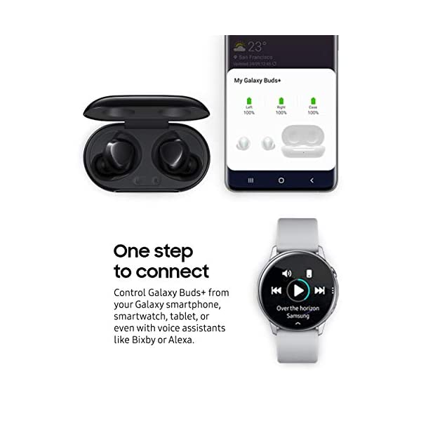 Samsung Galaxy Buds Plus, True Wireless Earbuds Bluetooth 5.0 (Wireless Charging Case Included), Black – US Version