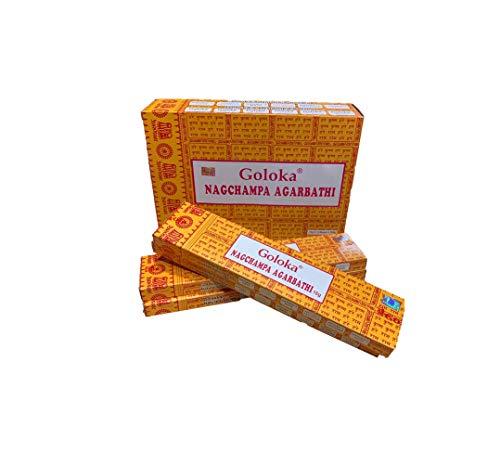 YesMandala Incienso Goloka - Nag Champa - 4 Cajas x 15g -