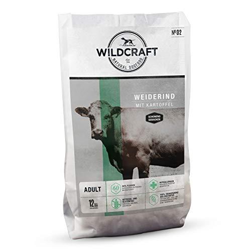 Wildcraft | 12 kg | Trockenfutter für Hunde | getreidefrei | Weiderind mit Kartoffel | Monoprotein | Hoher Fleischanteil | Schonend gebacken