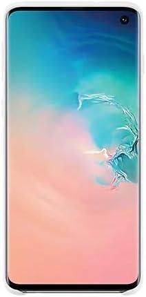 Samsung Official Original Non-Slip, Soft-Touch Silicone Silicone Case for Galaxy S10e / S10 / S10+ (Plus) (White, Galaxy S10)