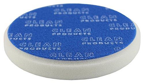 CLEANEXTREME Polierschwamm abrasiv-retikuliert-weiss-135/20mm - für die Autopolitur