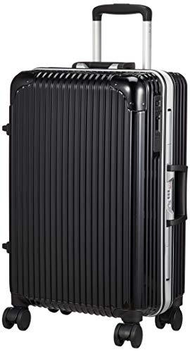 [ヒロディービーシー] フレームエッジ、スーツケース フレームエッジ 保証付 45L 4.2kg ブラック