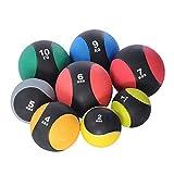 YDME Goma Texturizado Balones medicinales Antideslizante Elasticidad Ball Balón Medicinal Amarillo Sólido Wall-Ball 1 Pieza para fortalecimiento tonificación Muscular etc 5KG