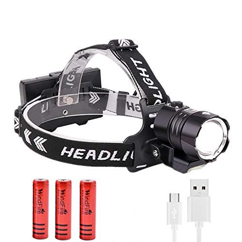LUXJUMPER Linternas Frontales LED 15000 Lumen XHP90 con COB, 3 Modos Zoomable...