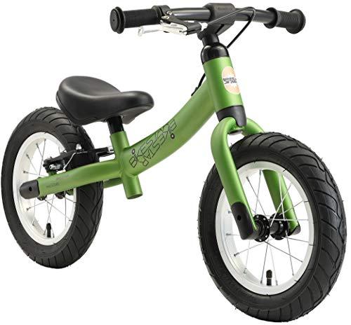 BIKESTAR Vélo Draisienne Enfants pour Garcons et Filles de 3-4 Ans | Vélo sans pédales évolutive 12 Pouces Sportif | Vert