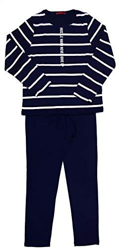 Montse Interiors, S.L. Pijama niño o Chico Largo Azul Rayas