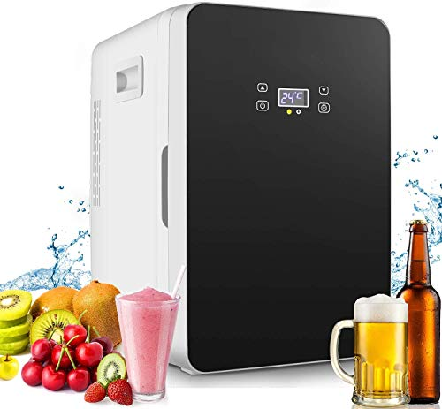 20L Mini Fridge, Mini Freezer, Large Capacity Compact Cooler and Warmer with Digital Thermostat Display and Control Temperature, Single Door Mini Fridge Freezer for Cars, Road Trips, Homes, Offices