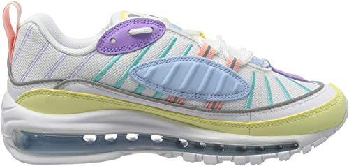 Nike Damen W Air Max 98 Laufschuhe, Grün (Luminous Green/White/Atomic Violet/Bleached Coral/Psychic Blue/Lt Aqua 300), 41 EU