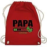 Shirtracer Vatertagsgeschenk Papa - Papa loading 2021 mit Schnullern - schwarz/grün - Unisize - Rot - Familie - WM110 - Turnbeutel und Stoffbeutel aus Baumwolle