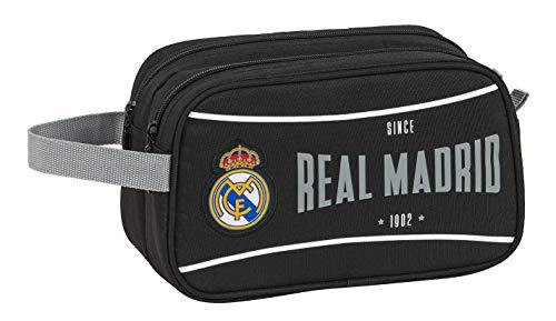 safta 812024518 Neceser, Bolsa de Aseo Adaptable a Carro Real Madrid CF, Negro