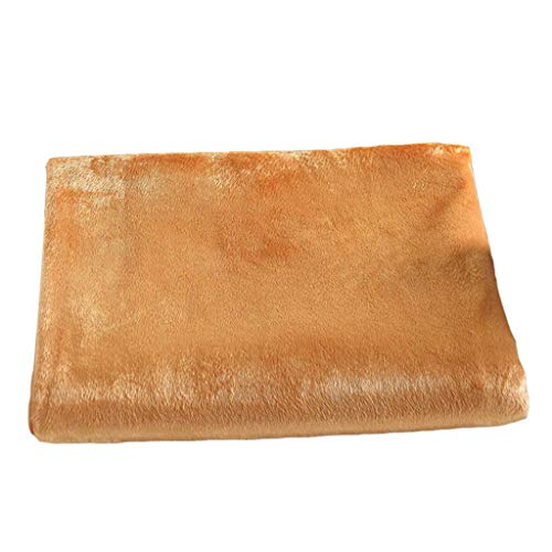 Zacht fluwelen Massage Bed Tafelkleed met Gezicht Hole, Hypoallergene Salon Spa Bank Bed Sheet - Camel, 190x120cm (75x47 inch) AOD Kameel