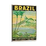LAIWDNJK Vintage-Reise-Poster, Brasilien, dekoratives