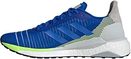adidas Solar Glide 19 M, Zapatillas de Running Hombre, Glory Blue/Glory Blue/Signal Green, 44 2/3 EU