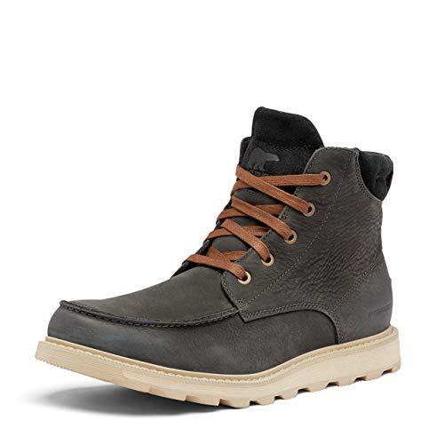 SOREL Men's Madson II Moc Toe Rain Boot — Coal — Waterproof Leather — Size 11