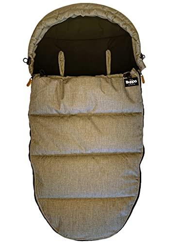 The Buppa Brand 9A110901 - Saco de invierno universal para cochecito, color marrón