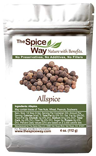The Spice Way Allspice - Whole | 4 oz | a multipurpose berry for curries, sauces, soups and even pastries