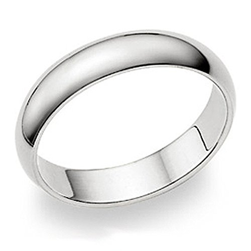 Metal Factory 5MM Sterling Silver High Polish Plain Dome Tarnish Resistant Comfort Fit Wedding Band Ring Sz 10.5