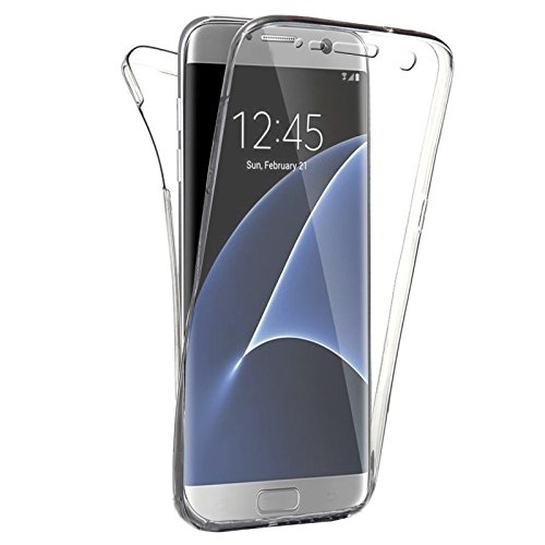 SAVFY Coque Silicone Gel Integral Galaxy s7 Edge Samsung Transparent
