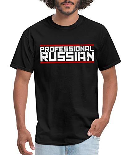 FPS Russia Professional Russian Logo Men's T-Shirt, L, Black