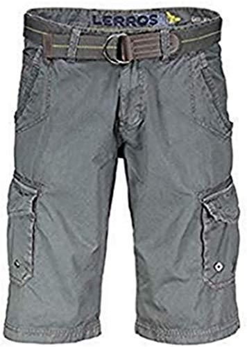 LERROS Herren Bermuda mit Gürtel Shorts, Grau (Rock Grey 269), 46 (Herstellergröße: 31)