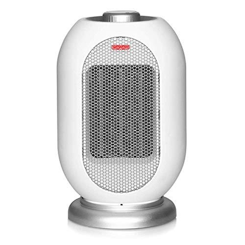 XASY ventilatorkachel, kachel met timer, keramische ventilatorkachel met 3 x warmtestanden, stille verwarmingsfunctie, oscillatiebeveiliging, 1200 W, geschikt voor kantoor, camping, thuis