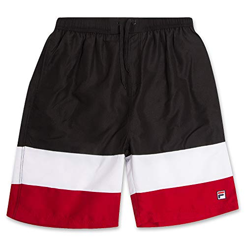 Fila Men Swim Trunks Big and Tall Mens Swimming Trunks Mesh Lined Bathing Suit