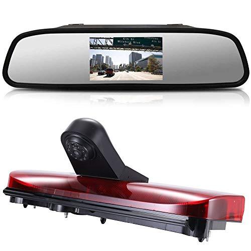 〔4.3'' Specchio Retrovisore + Obiettivo da 12mm CMOS Telecamera posteriore〕 per Ford Transit Connect 2014-2017 luce di stop per furgone 3 terza luce di arresto del freno