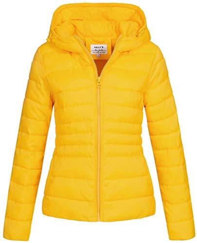 Hailys Damen Steppjacke Dora Übergangsjacke mit Kapuze HYG-0161208 Yellow M