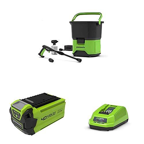Greenworks GDC40 Limpiador a presión con batería, Li-Ion 4