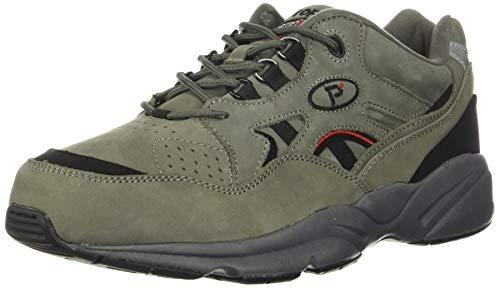 Propet Men's Stability Walker Sneaker, Grey/Black...