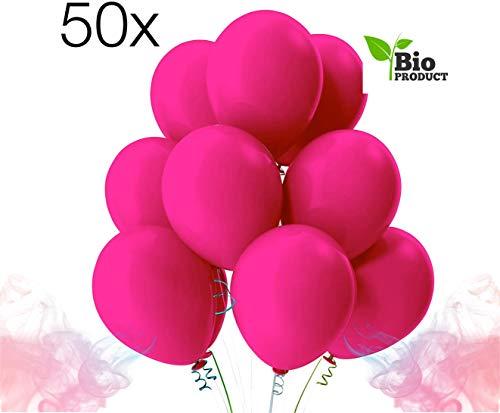 TK Gruppe Timo Klingler 50x Luftballons pink Ø 35 cm - Helium geeignet für Geburtstag & Hochzeit & Party Deko Dekoration zur Befüllung...