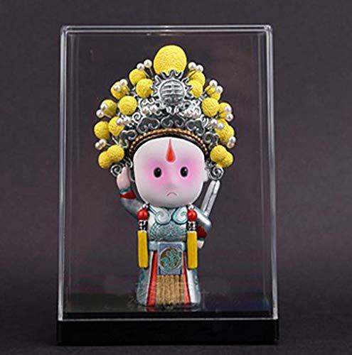 HJKIUY Escultura Estatua Figura de Arcilla pera de Pekn Mscara Artesana destacada Decoracin Regalo de Estilo Chino Sala de Estar Dormitorio Decoracin de Oficina Escultura-Zhou_Yu