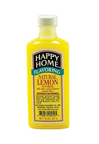 Happy Home Natural Lemon Flavoring Blend, Non-Alcoholic, Certified Kosher, 8 oz.