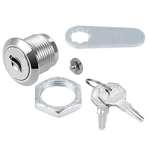 Serratura di sicurezza per armadietti e cassette postali, con 2 chiavi, per armadio, colore argento