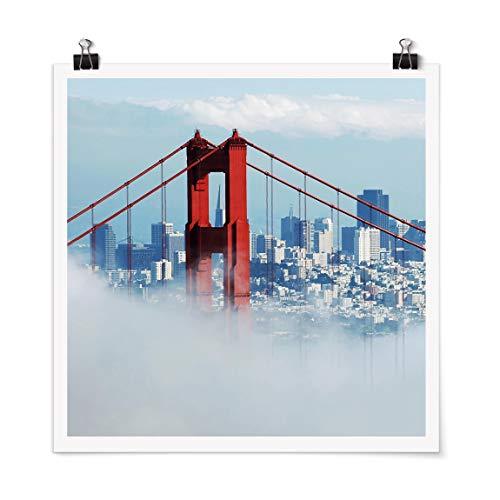 Bilderwelten Poster - Good Morning San Francisco! Carré Fini satiné Autocollant 70 x 70cm