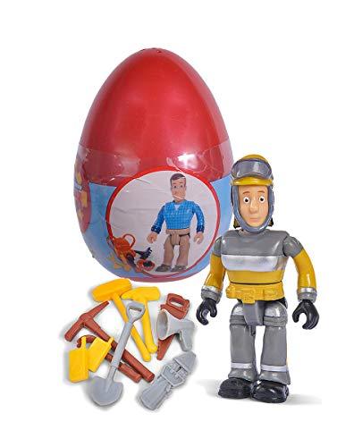 Simba 109251056 - Feuerwehrmann Sam Einzelfigur mit Zubehör III / 6-fach Sortierung / Jedes Ei enthält eine Figur inklusive Zubehör / 10cm