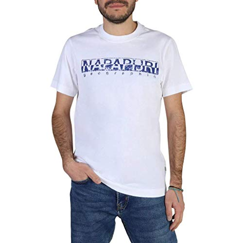 NAPAPIJRI SOLANOS T-Shirt, Bianco (Bright White 0021), XL Uomo